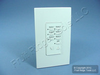 Leviton White Monet 7-Scene Dimmer Switch Controller 277V MN00C-7LW