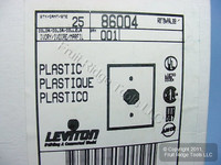"""25 Leviton Ivory 1.406"""" Receptacle Wallplate Single Outlet Plastic Covers 86004"""