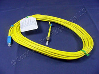 10M Leviton Fiber Optic Single-Mode Simplex Patch Cable Cord SC FC UPC UPSCF-S10