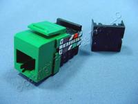 Leviton Green Cat 3 Quickport Jack Cat3 RJ45 Telephone 41108-RV3