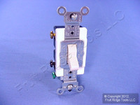 Leviton Light Almond DOUBLE POLE Commercial Toggle Switch 20A CSB2-2T