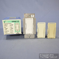 Leviton White/Ivory/Almond Vizia Light Dimmer Switch Hi-Lume Eco-10 Fluorescent 6A 277V VZH06-7LX