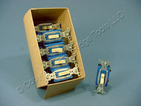 10 Pass & Seymour Ivory COMMERCIAL Toggle Light Switches 15A CS15AC1-I