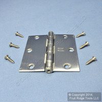 "National Hardware #V512 Cabinet Door Satin Nickel Finish Steel 3-1/2"" Removable Pin Hinge N305-284"