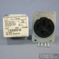 Leviton 18-30 Receptacle Power Outlet NEMA 18-30R 30A 3ØY 120/208V 8330