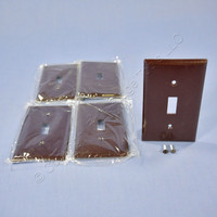 5 Eagle Brown RESIDENTIAL 1-Gang Switch Plate Cover Standard Wallplates 2134B