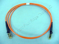 1M Leviton Fiber Optic Multi-Mode Duplex Patch Cable Cord MT-RJ 50mic 50DMJ-M01