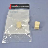 2 Cooper Ivory Modular Wallplate Solid Blank One Port Filler Inserts 5550-5EV