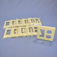 10 Cooper Ivory Decorator GFCI GFI & Duplex Receptacle Thermoset Wallplate Outlet Covers 2157V