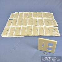 25 Leviton Ivory Switch Plate Receptacle Outlet Cover Wallplates Switchplates 86005