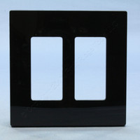 Leviton Black 2-Gang Midway Size Decora Screwless Wallplate Cover GFCI GFI SJ262-SE