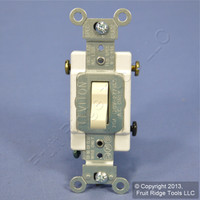 Leviton Almond 3-Way COMMERCIAL ON/OFF Toggle  Light Switch Control 20A CS320-2A