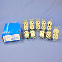 10 New Leviton Ivory Residential Straight Blade Duplex Receptacle Outlets NEMA 5-15R 15A 125V 5320-I