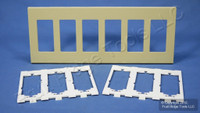 New Leviton Ivory 6-Gang Decora Screwless Snap-On GFCI Wallplate Cover Polycarbonate Plastic Commercial Grade 80326-SI