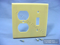 Leviton Ivory Switch Plate Receptacle Outlet Cover Wallplate Switchplate 86005