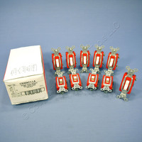 10 Pass & Seymour Light Almond COMMERCIAL Toggle Light Switches 20A CS20AC1-LA
