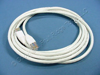 Leviton White 10' Cat 6+ Extreme Ethernet LAN Patch Cord Cable Cat6 Plus 10 Ft 62460-10W