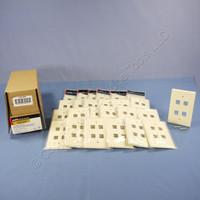 25 Cooper Almond 1G Mid-Size Flush Mount 110 Style 4-Port Wallplates 5540A-MSP