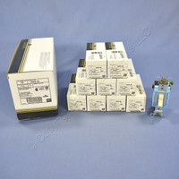 10 Leviton Ivory INDUSTRIAL Grade 3-Way Quiet Toggle Wall Light Switches 15A 120/277VAC 1203-2I