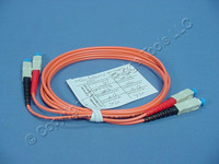 1M Leviton Fiber Optic Multi-Mode Duplex Patch Cable Cord SC 62.5/125 62DSC-M01