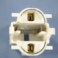 Leviton Compact Fluorescent Lamp Holder CFL Light Socket 13W 2-Pin GX23 GX23-2 Base Vertical Top Snap In Mount 26720-300