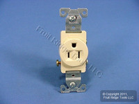 Cooper Ivory COMMERCIAL Straight Blade Single Receptacle Outlet 5-15R 15A 817V