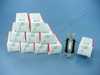 10 P&S Light Almond 4-WAY COMMERCIAL Toggle Wall Light Switches 15A 664-LAG