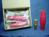 3 Leviton Red ECT 18 Series Vulcanized Female Cam Plug Crimped 690A 600V 17V24-R