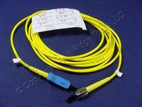 3M Leviton Fiber Optic Singlemode Simplex Patch Cable Cord SC FC SPC SPSCF-S03