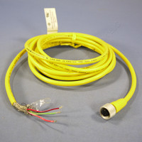 12' Daniel Woodhead Quick Disconnect PVC Cord Pigtail 22/3 3A 300V Female 70215
