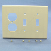 Leviton Light Almond MIDWAY Receptacle Outlet Cover Plate Switch Wallplate 80521-T