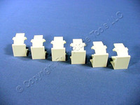 6 Leviton Almond Quickport Snap-In Blank Filler Plate Inserts 41084-BAB 41084-A