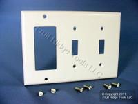 Leviton White 3-Gang Switch Cover Decora GFCI GFI Wallplate 80421-W