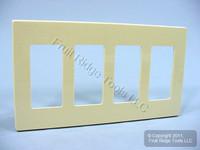 10 Leviton Ivory Decora Plus SCREWLESS 4-Gang Wallplates GFCI GFI Cover 80312-I