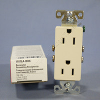 Cooper Lt Almond Decorator Receptacle Duplex Outlet 5-15 15A 125V 1107LA Boxed