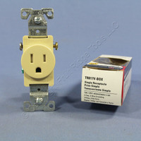 Cooper Ivory TAMPER RESISTANT Commercial Single Receptacle NEMA 5-15R 15A TR817V