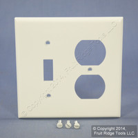 Leviton White UNBREAKABLE Switch/Outlet Wallplate Duplex Receptacle Cover Switchplate 80705-W