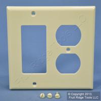 Leviton Almond Decora GFCI GFI Cover Duplex Outlet Receptacle Wall Plate 80746-A