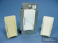 Leviton White/Ivory/Light Almond Vizia Light Dimmer Switch Hi-Lume Eco-10 Fluorescent 6A 277V VZH06-7LZ