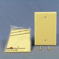 2 Cooper Commercial Ivory Unbreakable Mid-Size 1-Gang Blank Wallplate Covers PJ13V