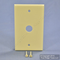"Leviton Ivory Phone Cable Plastic Wallplate Phone .625"" Box Mount Cover 86017"