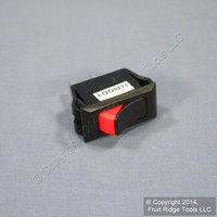 Leviton Black w/ Red Switch Snap-In Mini Rocker Panel Switch ON/OFF 20A Micro