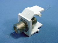 Leviton White Quickport F-Type Snap-In Coaxial Video Cable Jack 75-Ohm 41084-FWF