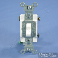 Leviton White 3-Way COMMERCIAL Quiet Toggle Wall Light Switch 20A Bulk CS320-2W