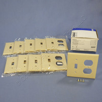 10 Eagle Ivory 2-Gang Toggle Switch Receptacle Outlet Cover Thermoset Wallplate Switchplates 2138V
