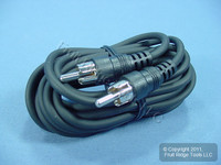 Leviton Black 12 Ft RCA Audio Speaker Cable Shielded C5452-12