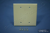 Leviton Almond Midway 2-Gang Blank Box Mount Unbreakable Wallplate Cover PJ23-A