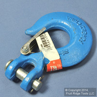"National Hardware #3243BC Forged Steel Blue 5/16"" Clevis Slip Hook With Latch N265-488"