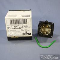 Leviton INDUSTRIAL Pin & Sleeve Splashproof Plug Inlet 30A 347/600VAC 3ØY SP530B5