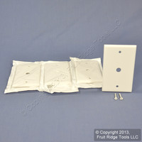 "4 Leviton White Phone Cable Wallplate Telephone Cover Plates .406"" Hole 88013"